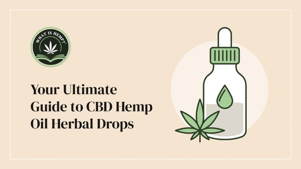 CBD hemp oil herbal drops